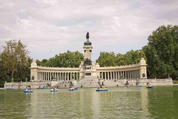 Monumento, parque, del, retiro, madrid