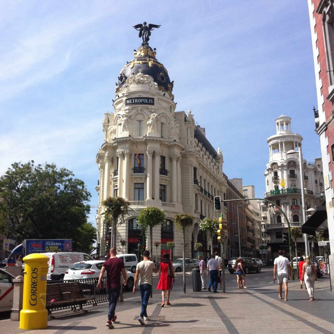 Gran, vía, metropolis, madrid