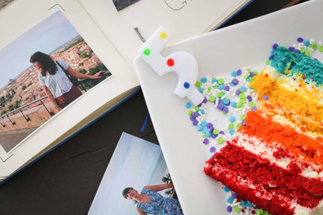 bolo, colorido, vela, 5, anos, viagem, aniversário, blog, coamotta